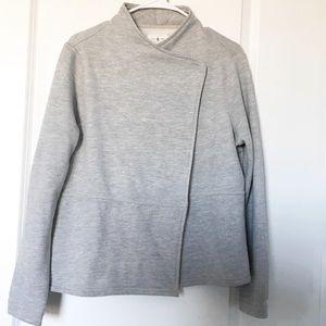 Lou & Grey Asymmetrical Jacket Gray